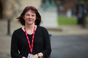 teresa latcham outside The Northern School of Art student services manager