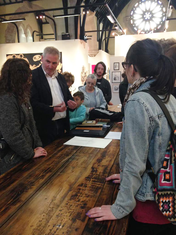 Illustrator Chris Riddell talks with Festival visitors 1