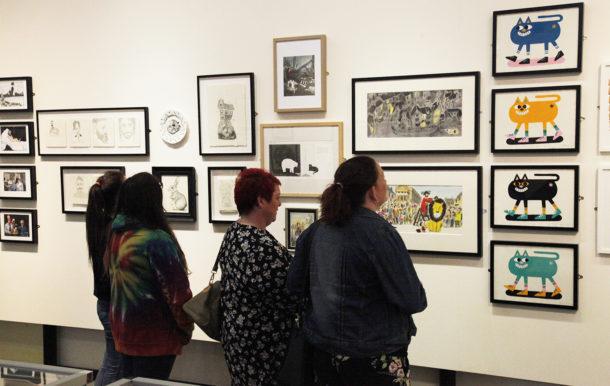Visitors enjoying the exhibition 2