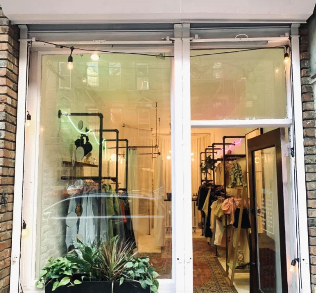 The front of independent fashion store Here nor There in New York