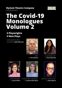 Poster for Covid-19 monologues