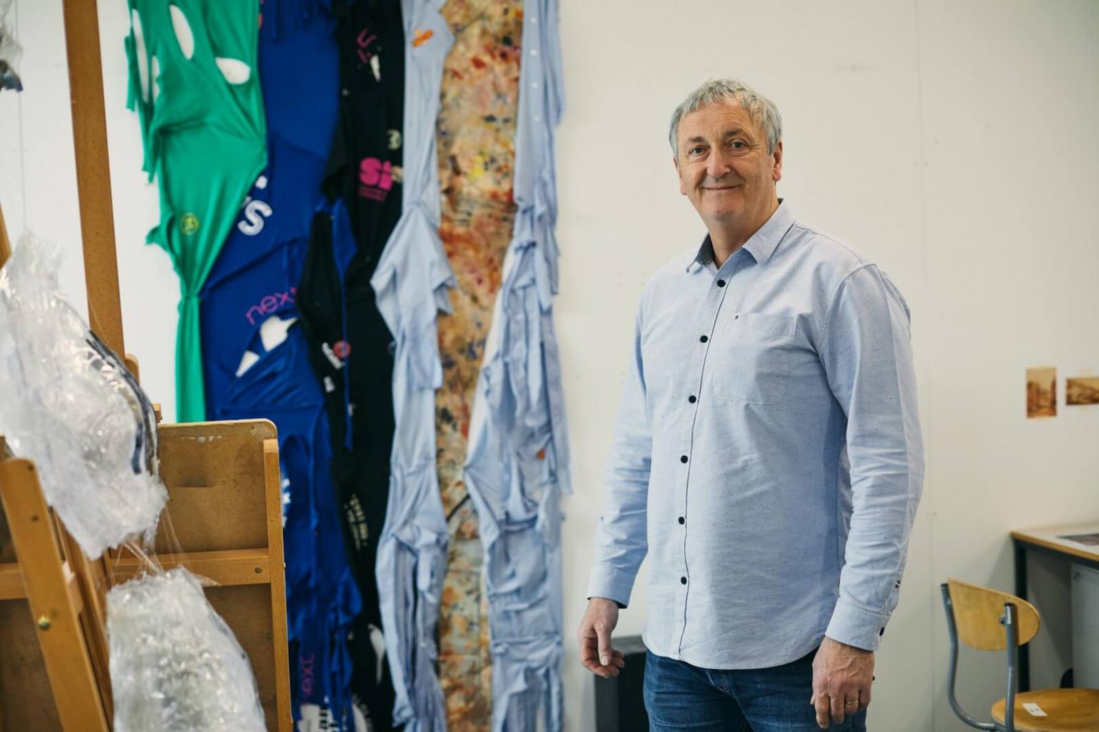 Fine art lecturer Dr Tony Charles